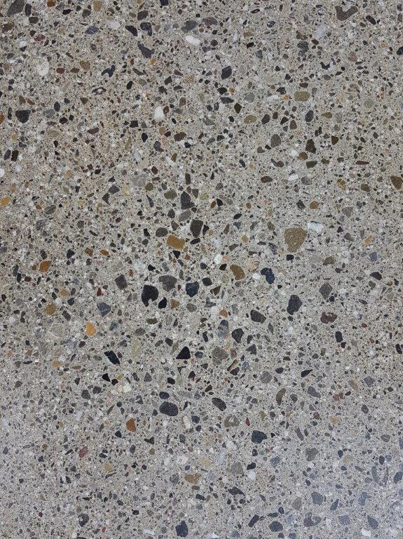 Nr.1 - Zement grau, Terrazzo-Schliff, Oberflächenverhärtet & imprägniert